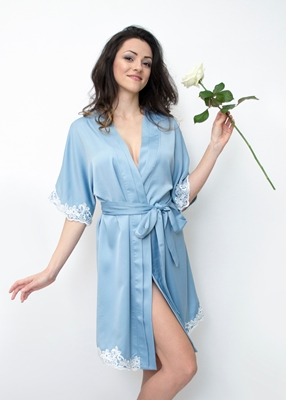 AQUARIA LACE TRIM ROBE