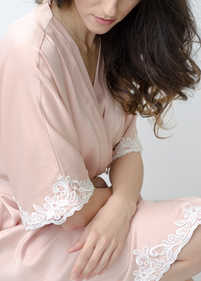 CORALIA LACE TRIM ROBE