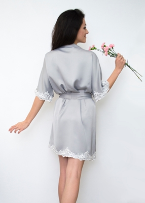 DELTANE LACE TRIM ROBE