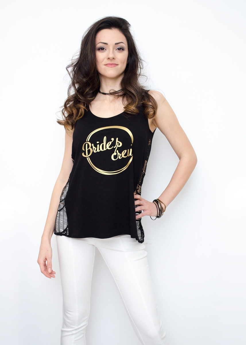 BLACK BACHELORETTE PARTY TANK TOP