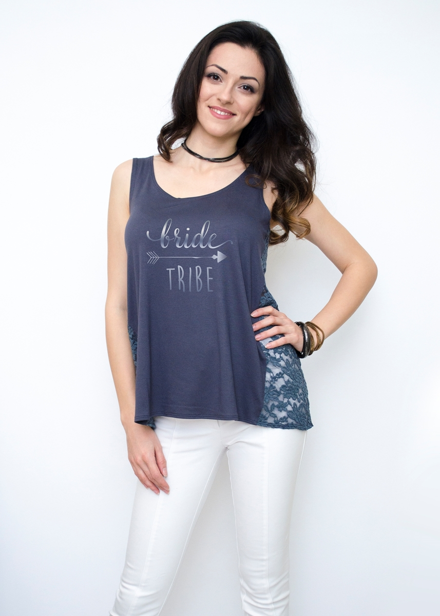 GREY BACHELORETTE PARTY TANK TOP
