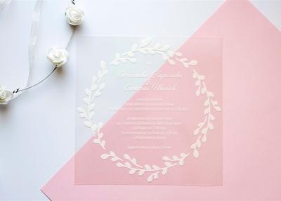MINNA FLORAL WREATH WEDDING INVITATION